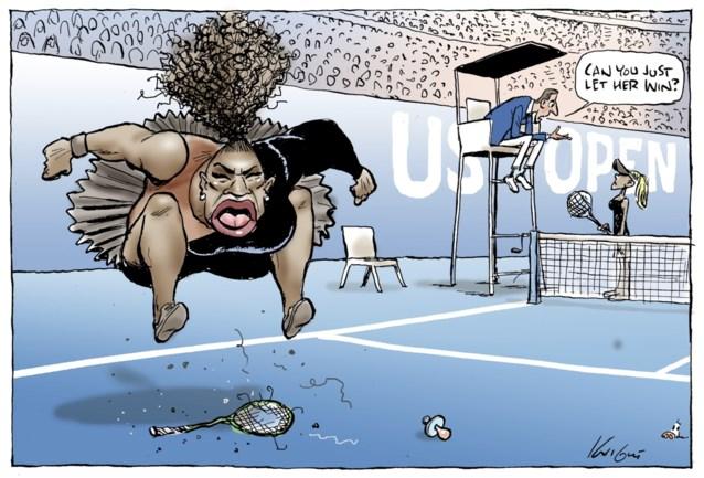 Officieel: omstreden cartoon van Serena Williams is niet racistisch