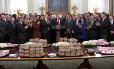 Trump trakteert voor tweede keer met fastfood in Witte Huis