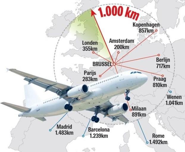 """Groen vraagt om Nederlands voorbeeld te volgen: """"Schrap vliegreizen tussen Brussel en Amsterdam"""""""