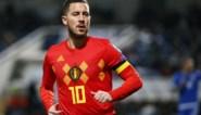 Eden Hazard scoort 30ste goal in 100ste match voor Rode Duivels en komt op gelijke hoogte met Paul Van Himst en Bernard Voorhoof