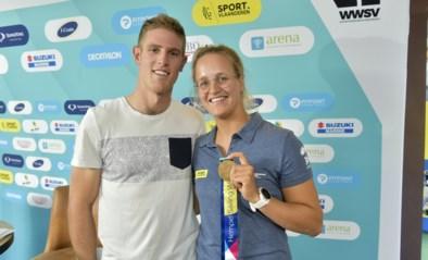 Zeilsverwanten: wereldkampioene Emma Plasschaert en vicewereldkampioen Matthew Wearn stomen zich samen klaar voor de Spelen
