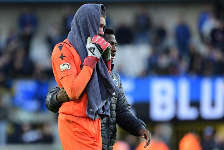 Club Brugge-doelman Ethan Horvath barst in tranen uit na gewonnen topper tegen Gent
