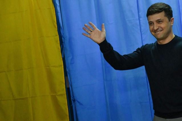 Acteur en huidige president mogen volgens eerste resultaten naar tweede ronde van Oekraïense presidentsverkiezingen