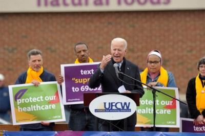 Joe Biden steunt stakers bij Ahold Delhaize-dochter: grootste actie van winkelpersoneel in 16 jaar