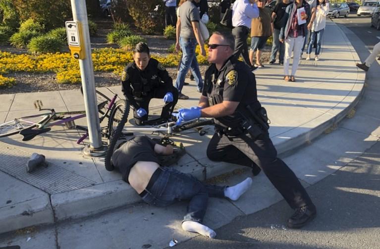 Man die inreed op voetgangers, viseerde moslims