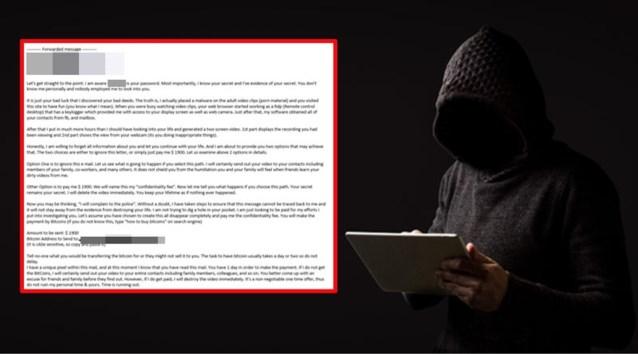"""Schrikwekkende mail gaat massaal rond in ons land: """"Oplichters sturen jouw correcte wachtwoord door en persen je zo af"""""""