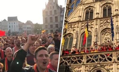 "Spelers KV Mechelen komen aan op Grote Markt, waar supporters al feestje bouwen: ""Wij gaan Europa in!"""
