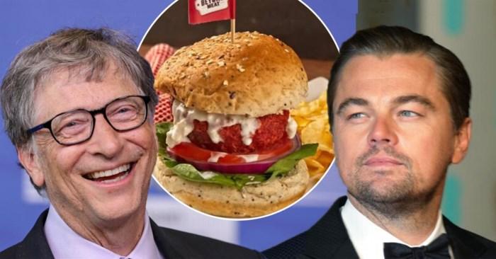 'Hamburger zonder vlees' is in één klap 3,4 miljard euro waard dankzij Bill Gates en Leonardo DiCaprio
