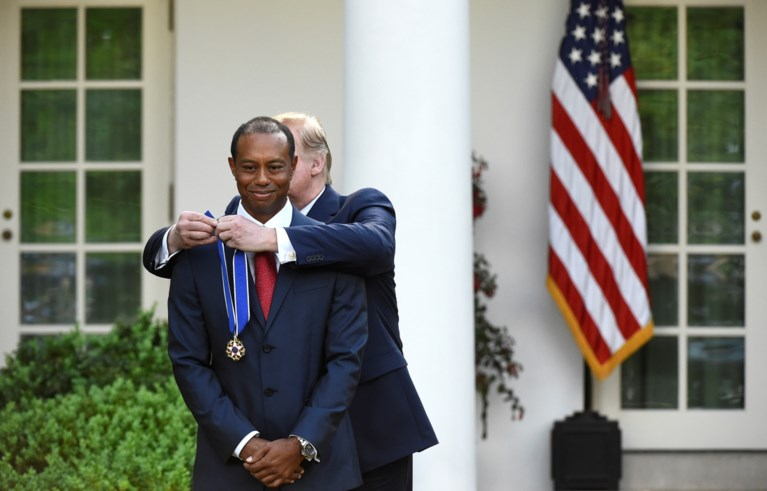 Golfer Tiger Woods krijgt Presidential Medal of Freedom