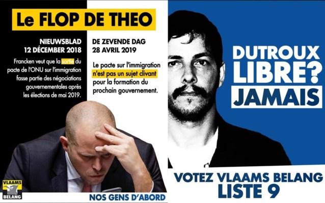 Vlaams Belang zoekt stemmen over de taalgrens met pamfletten over Theo Francken en Marc Dutroux