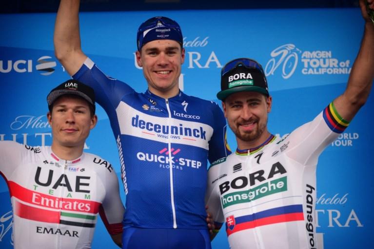 Fabio Jakobsen scoort in Ronde van Californië hattrick voor Deceuninck-Quick Step, Van Garderen blijft leider dankzij jury