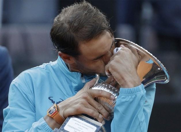 Rafael Nadal verovert negende eindzege in Rome