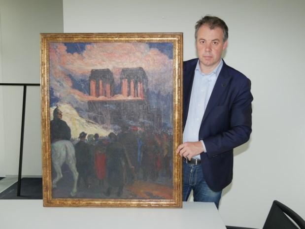 Schilderij brandende Notre-Dame verkocht en dat is ook goed nieuws voor de echte kathedraal