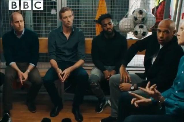 """Prins William, Thierry Henry en andere topvoetballers willen taboe doorbreken: """"Na depressie wilden ze zien of ik niet gek was"""""""