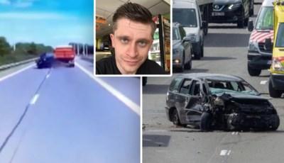 """Bestuurder komt met schrik vrij na horrorcrash met vrachtwagen: """"Het werd plots zwart voor mijn ogen"""""""
