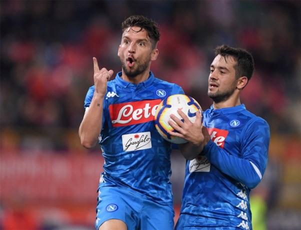 Goal van invaller Mertens kan Napoli niet van nederlaag houden op slotspeeldag