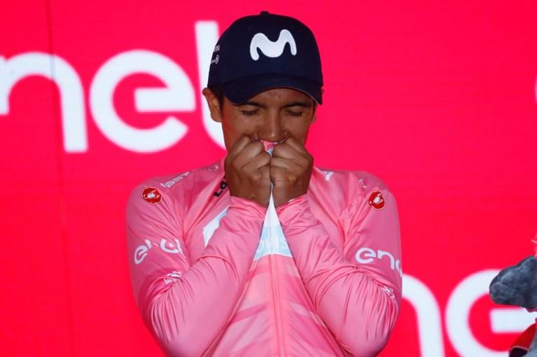 """Carapaz toont zich beste klimmer in Giro, maar """"toch blijven Roglic en Nibali dé topfavorieten"""""""