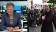 """Martine Tanghe tegen VRT-reporter met zwarte jas en zwarte pet: """"Zei je nu vuurwerk?"""""""