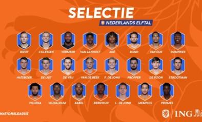 Dit is de Nederlandse selectie voor de Final Four van de UEFA Nations League: vier spelers van Ajax erbij