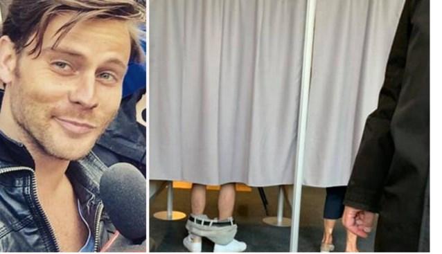 """Niels (31) stemt met zijn broek op enkels en wordt hit op internet: """"Politici doen toch ook hun broek af voor een stem?"""""""