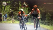 Opmerkelijk: Nibali krijgt drinkbus van CCC-renner Ventoso