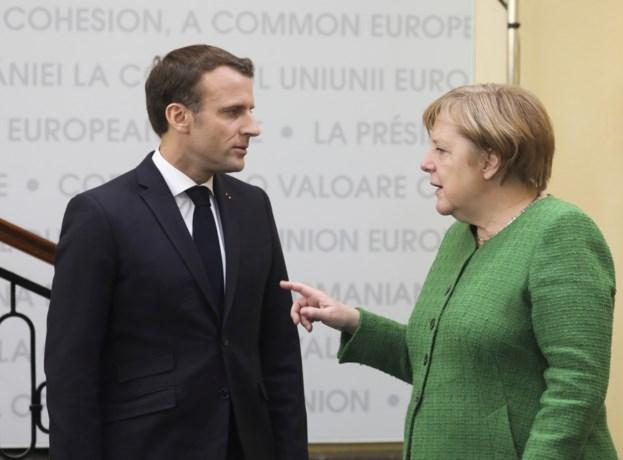 Merkel en Macron zijn het niet eens over opvolger Juncker