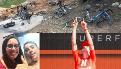 """Hij keek de dood in de ogen bij horrorcrash, nu wint Chad Haga een rit in de Giro: """"Ik was zeker dat ik nooit nog op een fiets zou zitten"""""""