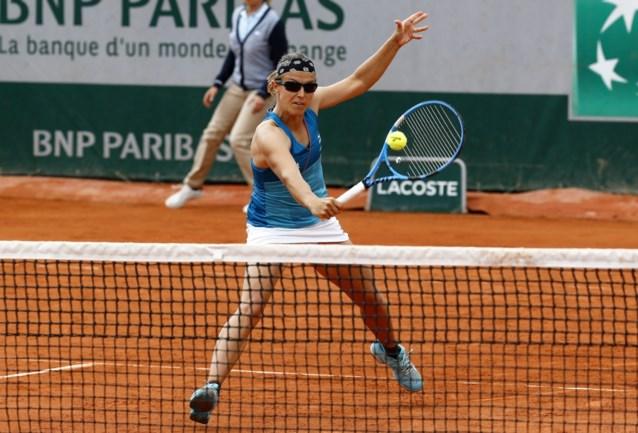 Kirsten Flipkens stoot op Roland Garros door naar halve finales in het dubbelspel