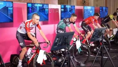 Zwift gaat nu écht aan het rollen maar renners zijn verdeeld over Giro-plannen voor 'virtuele' proloog