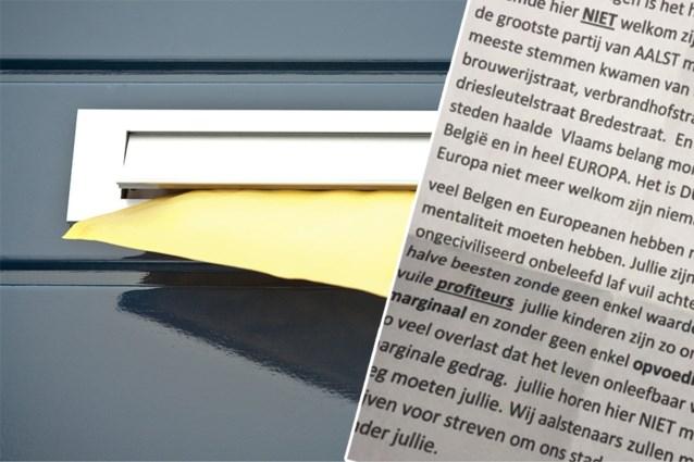 """Verdachte in beeld voor racistische brief in Aalst: """"Halve beesten zonder waarde. Jullie zijn hier niet welkom"""""""