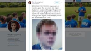 UGent-assistent dient klacht in tegen Dries Van Langenhove