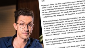 """Steven Van Herreweghe lanceert antwoord op racistische brief: """"In Aalst noemen we dat zoagen, kreften en memmen"""""""