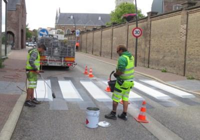 Eerste 3D-zebrapad van Limburg aangelegd in Munsterbilzen
