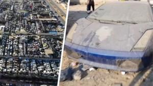 Indrukwekkend: op dit verlaten autokerkhof staan maar liefst honderden Ferrari's en Lamborghini's stof te happen