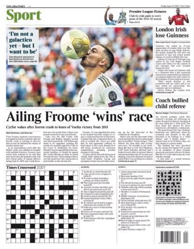 Eden Hazard siert de voorpagina's van verschillende sportkranten, maar eentje springt er toch wel uit