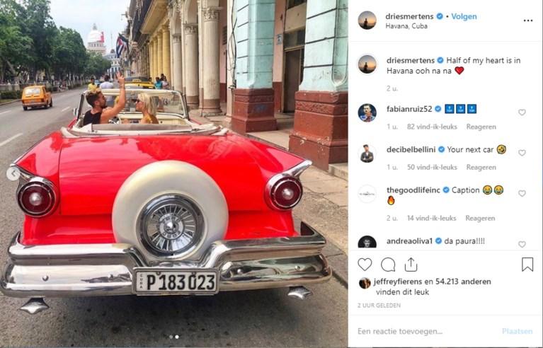 Rode Duivels op vakantie: Dries Mertens en zijn Kat maken grote sier op Cuba
