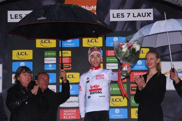Lambrecht en Teuns tevreden met plaats in top tien van uitgeregende koninginnenetappe Dauphiné