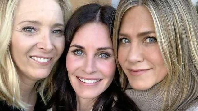 Friends-reünie: 'Rachel en Phoebe' op verjaardagsfeestje van 'Monica'