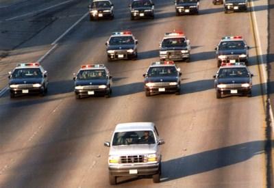 25 jaar geleden keek de wereld naar de traagste, maar spannendste achtervolging aller tijden