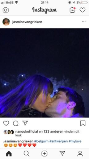 """Jasmine Vangrieken post foto van """"nieuwe liefde"""""""