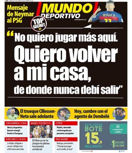TRANSFERGERUCHTEN. Transfer Romelu Lukaku dreigt moeilijk te worden, Lionel Messi dringt aan voor komst Neymar bij Barcelona