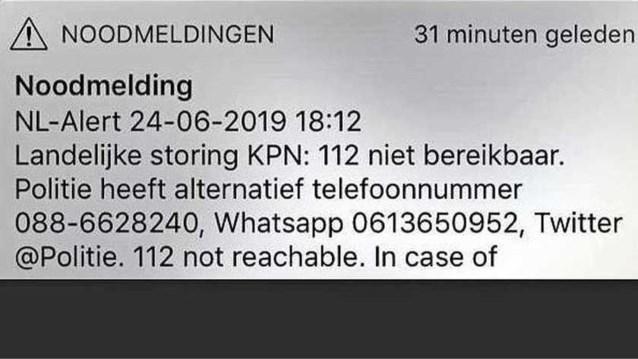 Noodnummer defect in Nederland, ministerie stuurt 'alternatief nummer' uit en plots… komt iedereen bij de krant terecht