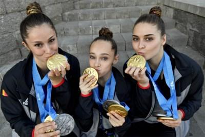 """Charlotte (15), Britt (17) en Talia (19) wilden er één, maar kregen drie medailles op Europese Spelen: """"We vergeten soms dat we speciaal zijn"""""""