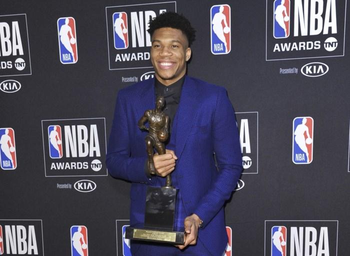 Giannis Antetokounmpo verkozen tot MVP van de NBA