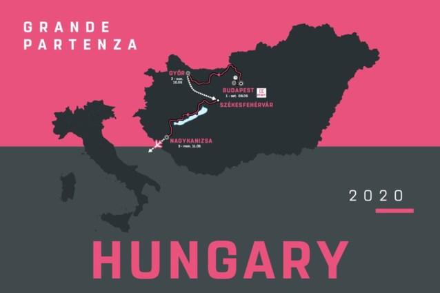 Ronde van Italië 2020: organisatie maakt parcours van openingsetappes in Hongarije bekend