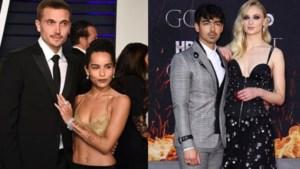 Hollywood in Frankrijk: sprookjeshuwelijk voor zowel Sophie Turner als Zoë Kravitz