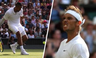 Bad boy Nick Kyrgios doet Wimbledon (en Rafael Nadal) beven met onderhandse ace, maar is uitgeschakeld