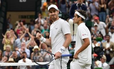 Andy Murray wint bij rentree op Wimbledon, laatste punt is pure reclame voor dubbelspel