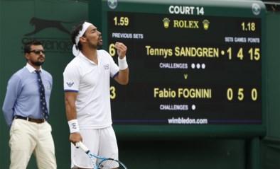 Tennisser Fognini excuseert zich, maar riskeert zware boete na 'bomuitspraak' op Wimbledon