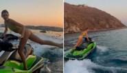 Kendall Jenner in bikini waagt zich aan 'Bottle Cap Challenge' vanop jetski